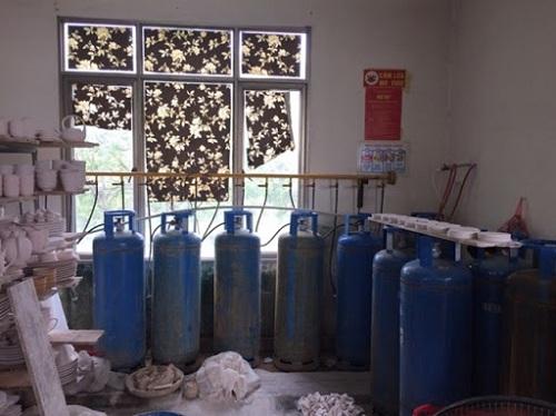 Sử dụng gas trong lò nung gốm sứ